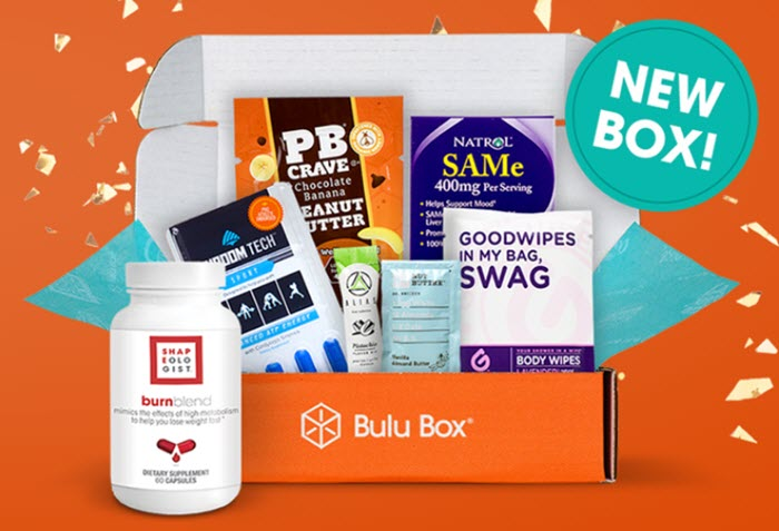 An orange box with supplements against an orange background