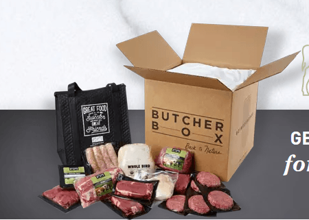 A box with meat