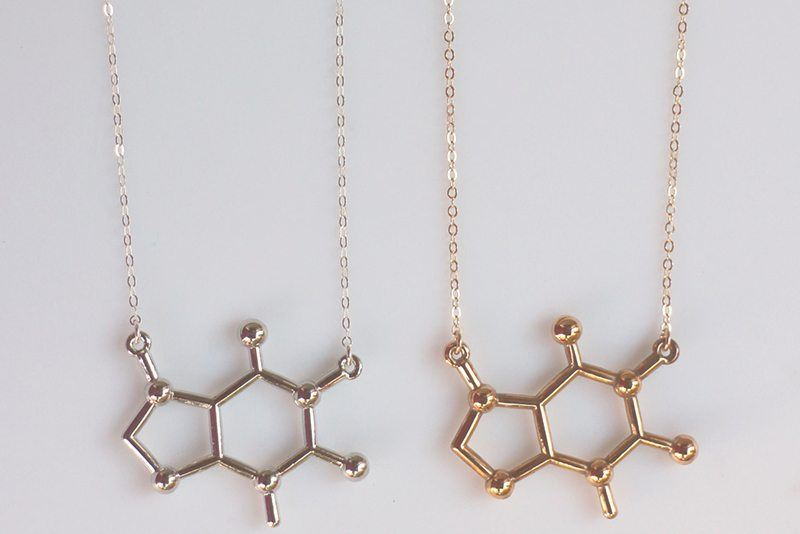 Caffeine-Molecule-Necklace