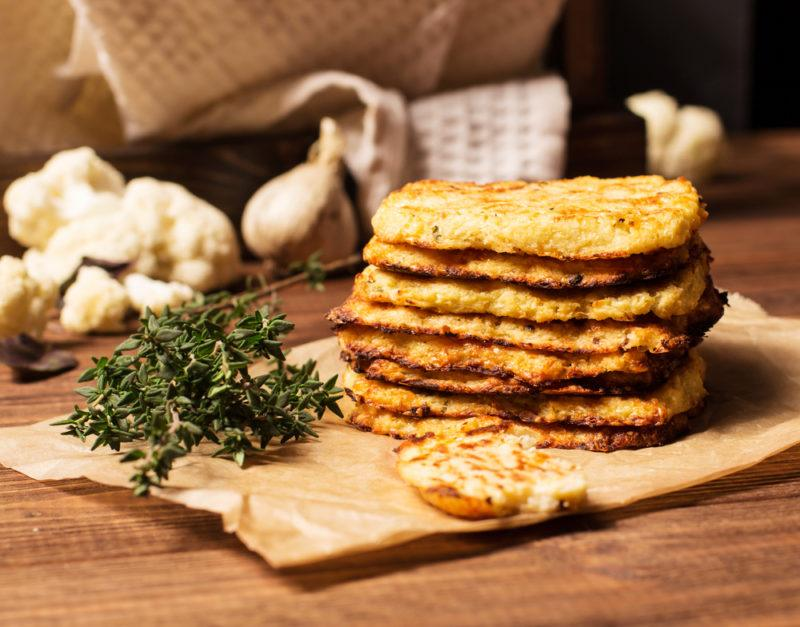 Hash browns made with cauliflower
