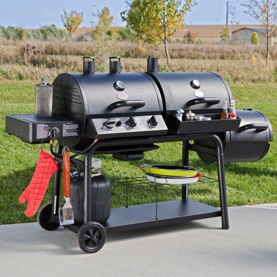 Char Griller Trio Gas Charcoal Smoker Grill
