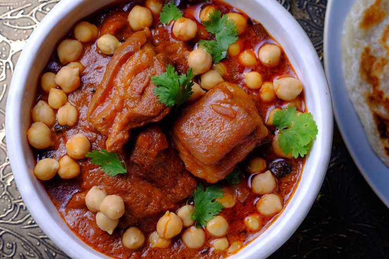 Slow Cooker Lamb and Chickpea Tandoori Stew TOP VIEW