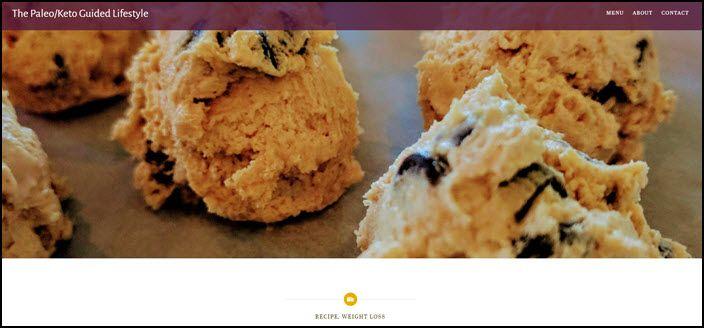 Website screenshot from Paleo Mom Noms