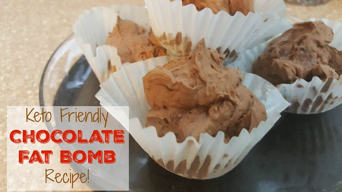 Rough chocolate fat bombs in cupcake liners