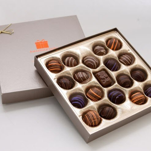A box of chocolates from Amazing Clubs