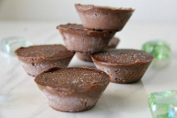 A selection of chocolate fudge cups