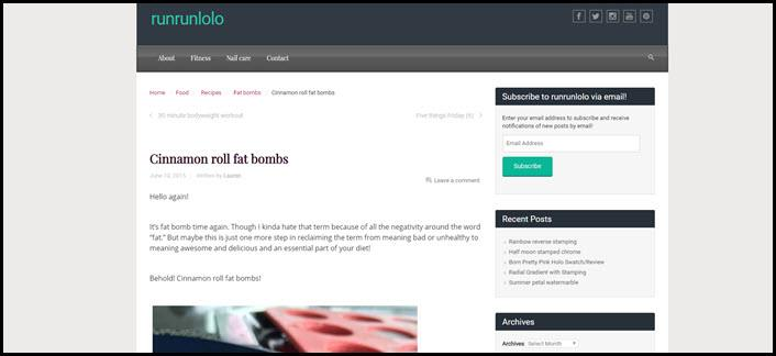 Website screenshot from Run Run Lolo