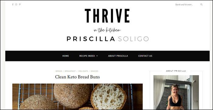 Website screenshot from Priscilla Soligo