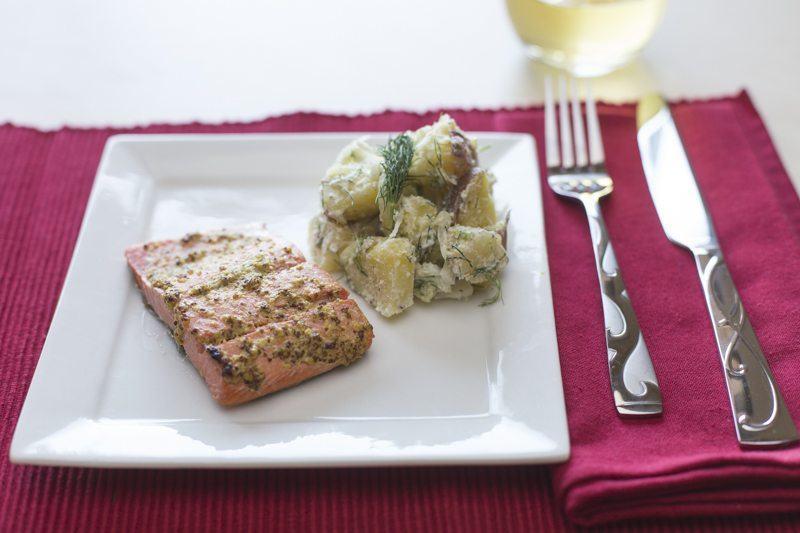 Close-Up-Salmon-Potato-Salad-Square-Plate