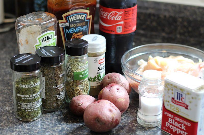 Coca Cola Chicken with Potatoes ingredients