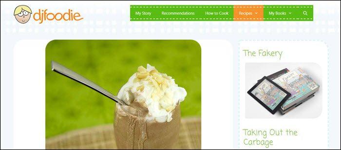 Website screenshot from DJ Foodie