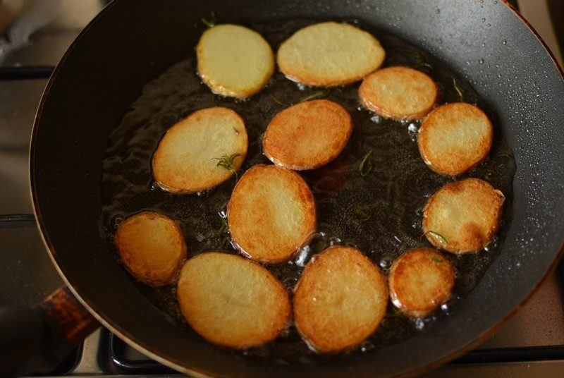 Cooking the potatoes 1
