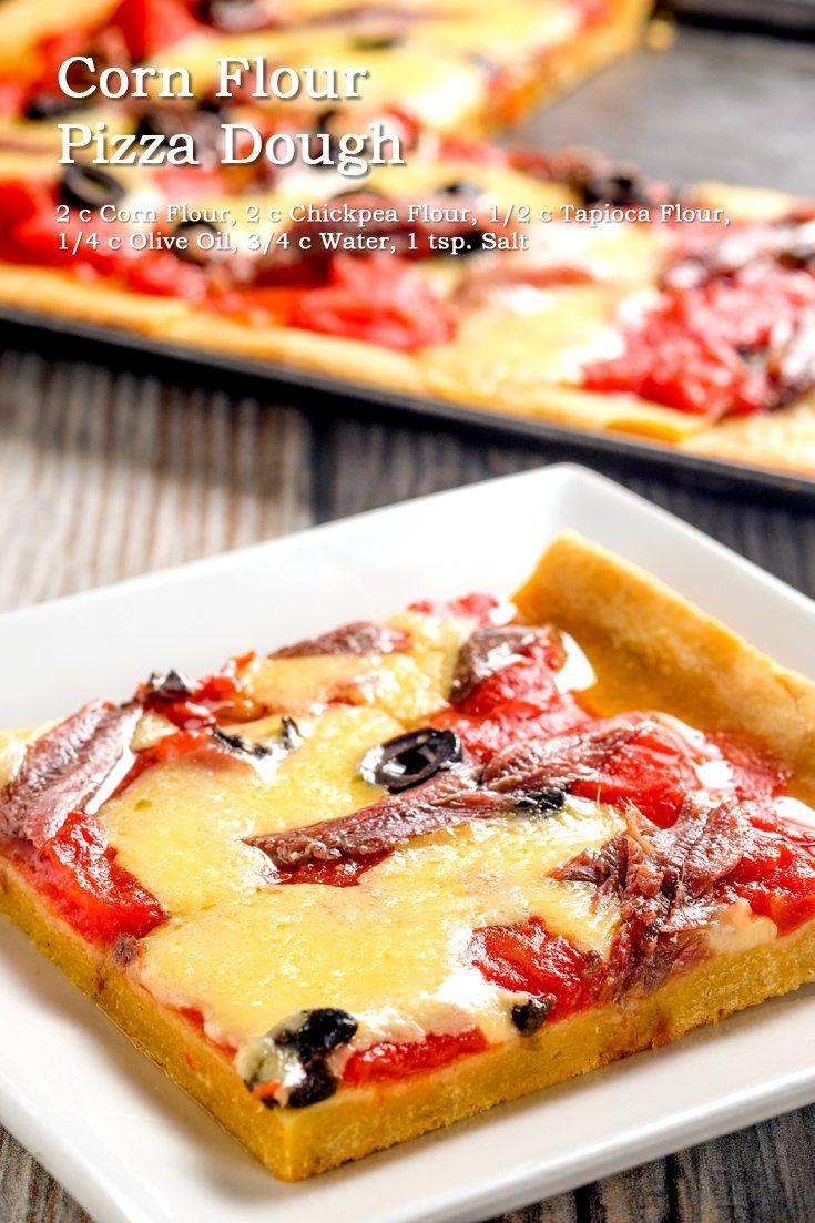 Corn Flour Pizza Dough Full Recipe on FoodForNet.com