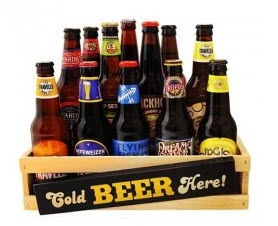 Selection of beer in a crate