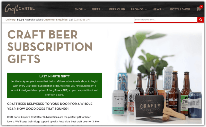 Craft Cartel's Craft Beer Subscriptions