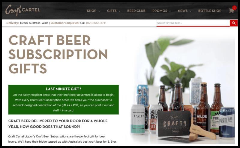 Craft Cartel's Craft Beer Subscriptions