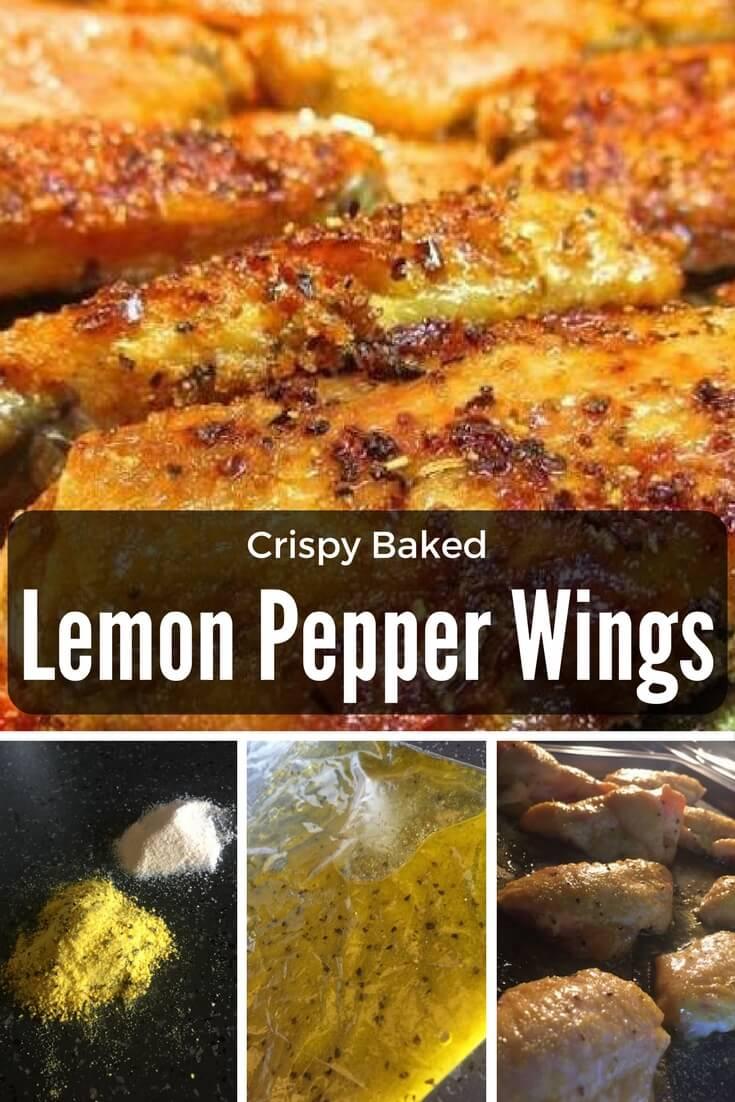 Crispy Baked Lemon Pepper Wings