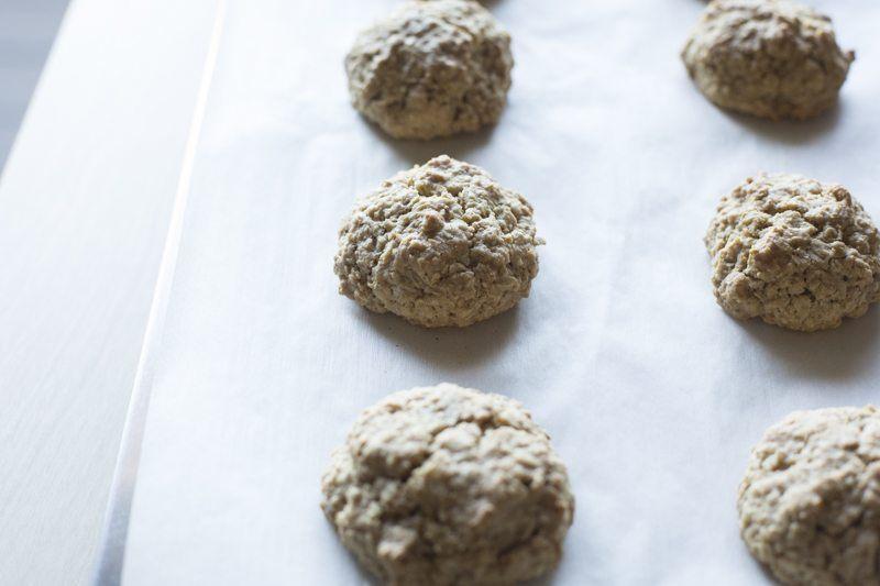 Crispy Oat Cookies Wax Paper Baking Dessert