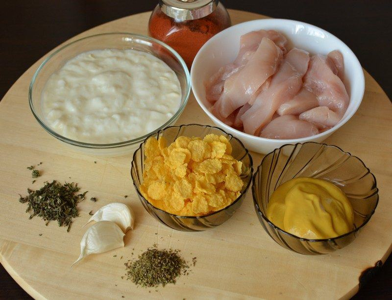 Crunchy strips ingredients