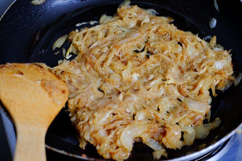 Onions caramelized