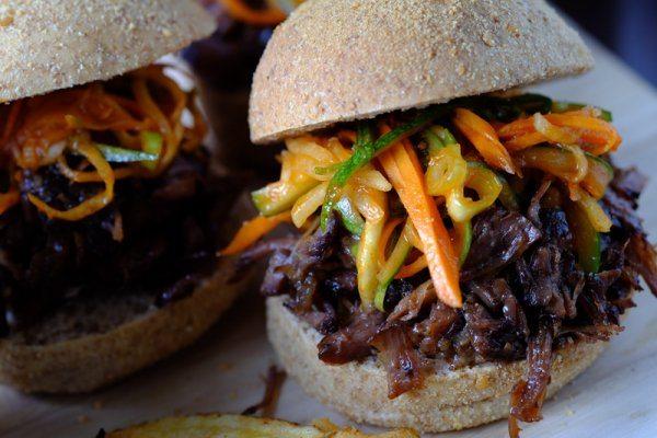 Slow Cooker Beef Bulgogi Sliders with Kimchi Slaw | Food ...