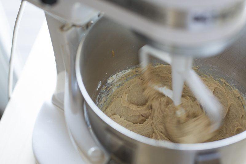 Dark Chocolate Cake Peanut Butter Frosting Chocolate Ganache Mixer Kitchenaid Dessert Prep
