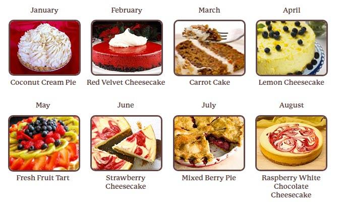 8 different desserts