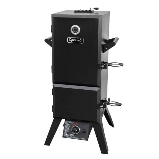 Dyna-Glo DGY784BDP Black Steel Double Door Vertical Gas BBQ Smoker