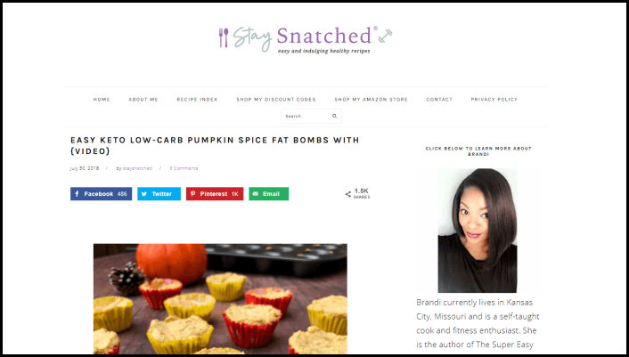 Website screenshot from Stay Snatched