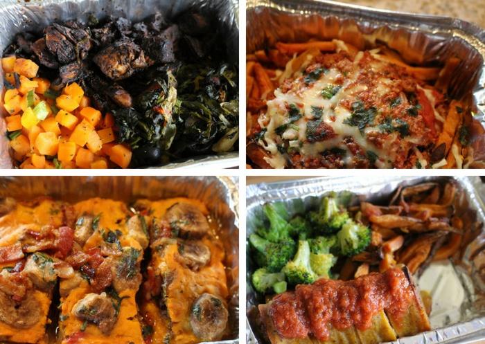 Mushroom balsamic glazed chicken, XXX, Chili Cheese Fries, Paleston Pie Breakfast, and Pizza Rolls