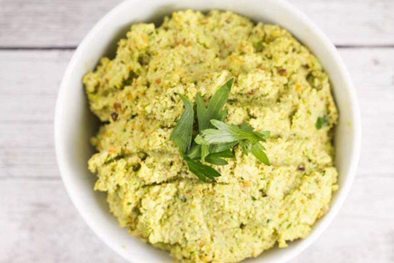 Edamame-Pistachio Hummus