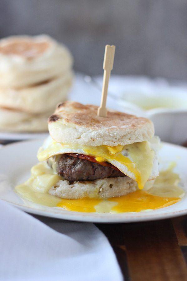Eggs Benedict Burgers