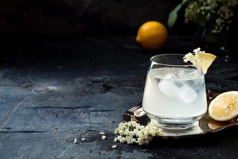 An elderflower cocktail