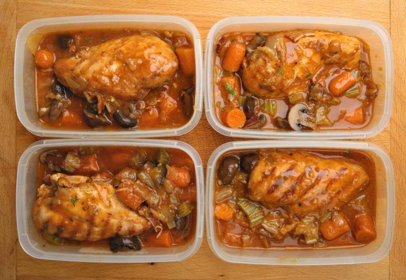 Freezer dinners with chicken