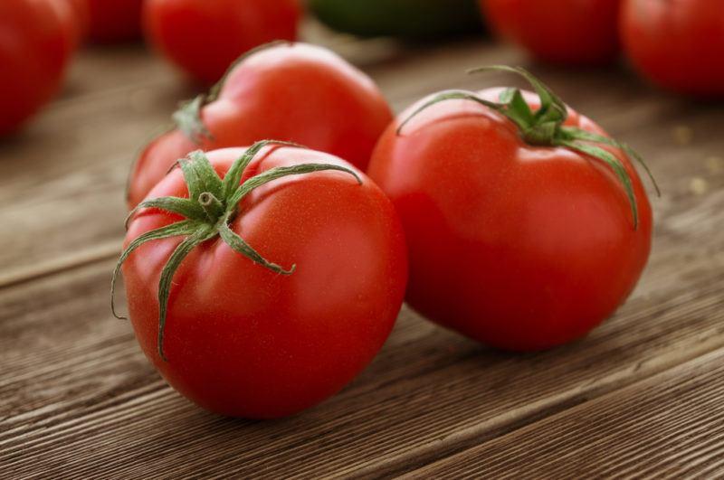 Fresh tomatos on a table