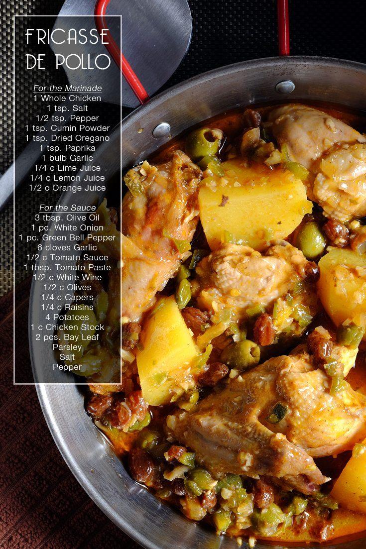 Slow Cooker Fricasse de Pollo full recipe on FoodForNet.com