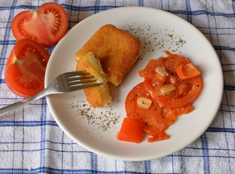 Fried cheese and balsamic tomatoes final 5