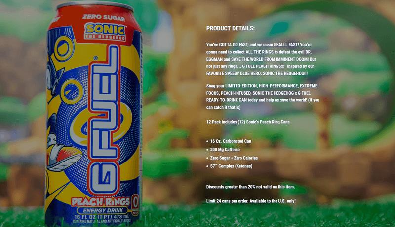 A website screenshot for G Fuel