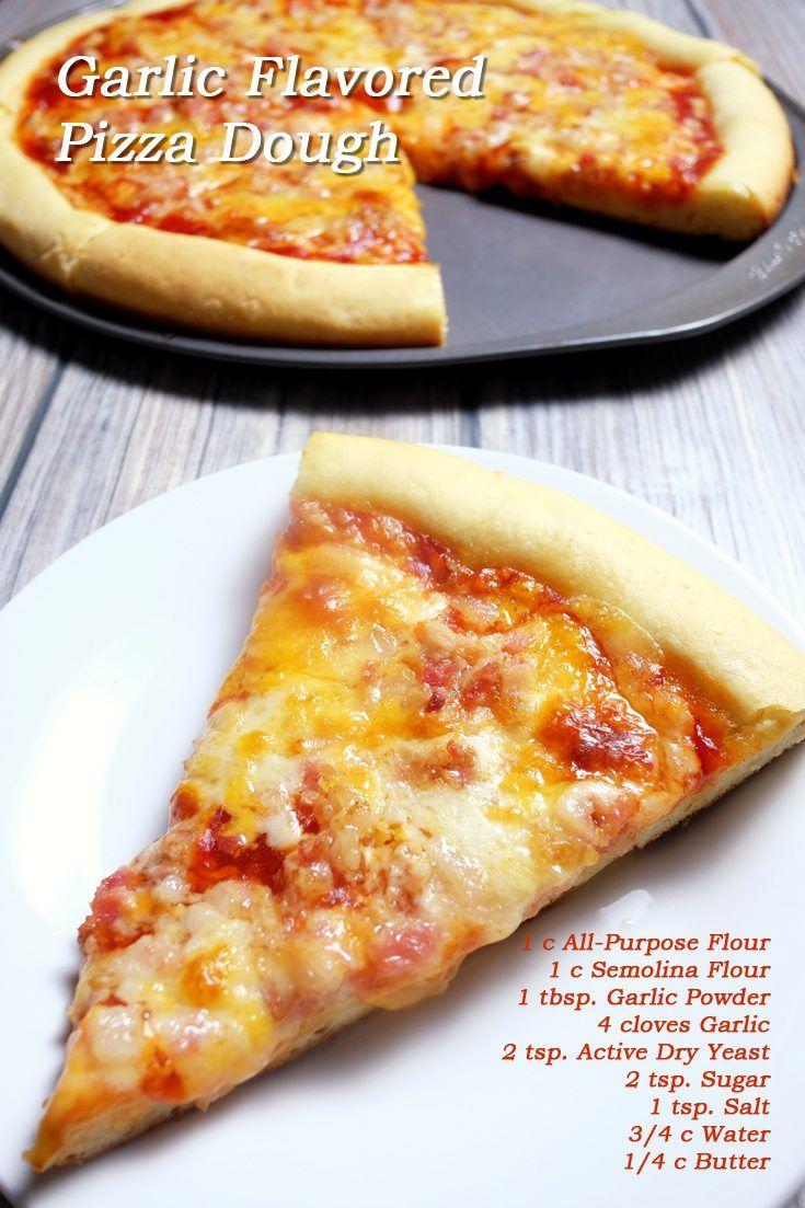 Garlic-Flavored Pizza Dough Full Recipe on FoodForNet.com