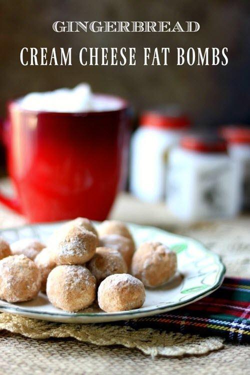 Gingerbread fat bombs and a mug of cocoa