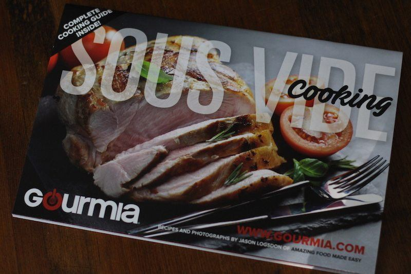 free cookbook included with all gourmia sous vide immersion circulators
