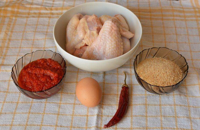 Hot wings ingredients