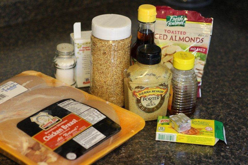 ingredients for Honey and Sesame-Glazed Chicken