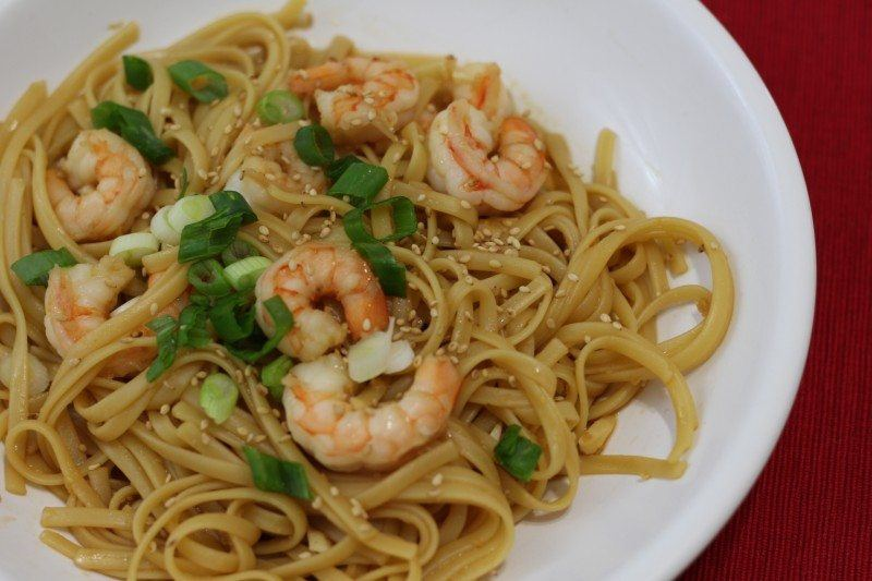 sesame shrimp fetuccini 1
