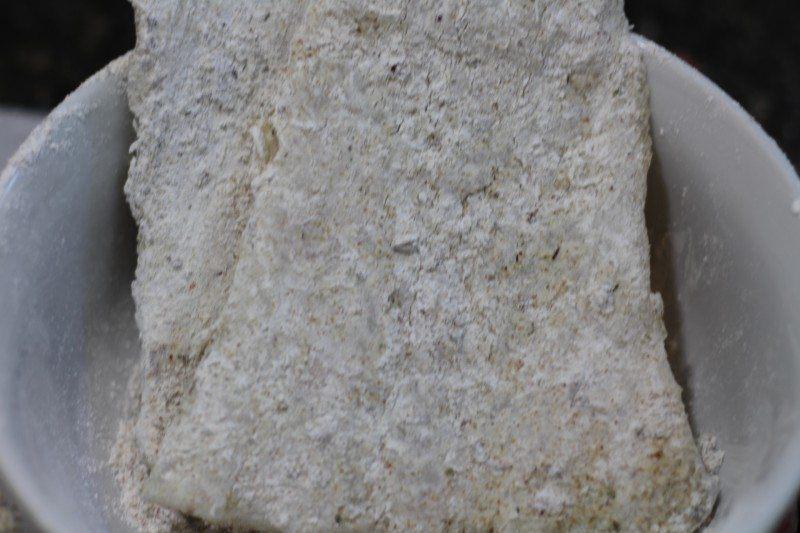 flour dukkah spiced cod