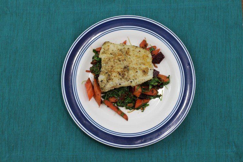dukkah-spiced cod blue apron