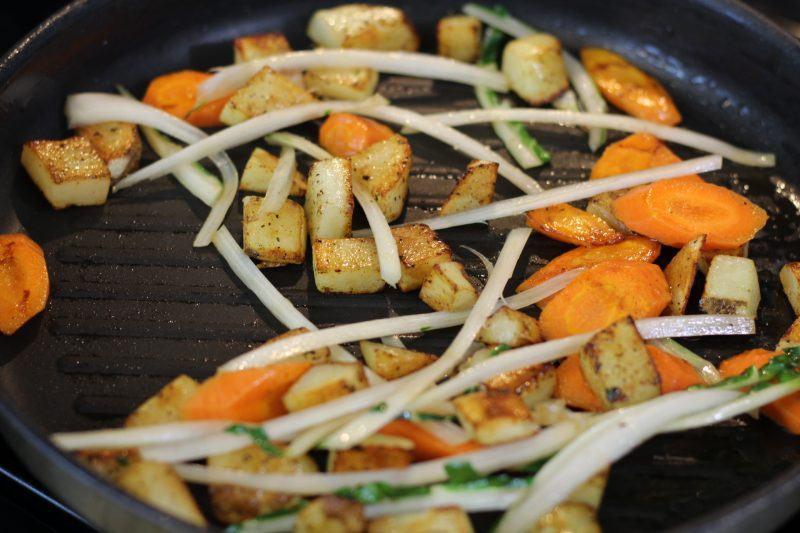 pan fried swiss chard carrots