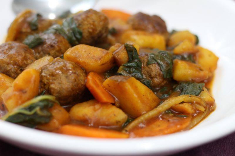 meatball ragout swiss chard blue apron