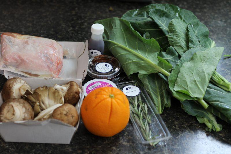 roasted chicken crispy rosemary orange salad blue apron