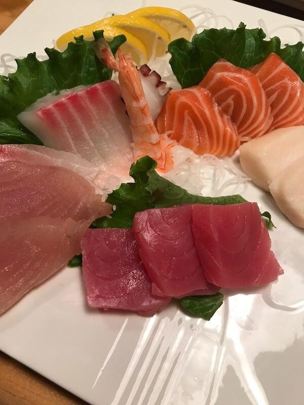 matsuyama sushi sashimi plate